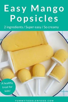 Easy Mango Popsicles (2 Ingredients and SO Good!)
