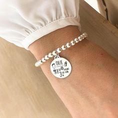 Pulsera personalizada de hombre-nunca renunciar a pulsera para hombre-regalo personal para marido