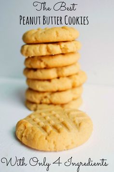 The BEST Peanut Butter Cookies! Made using a Cake Mix and only 4 ingredients!