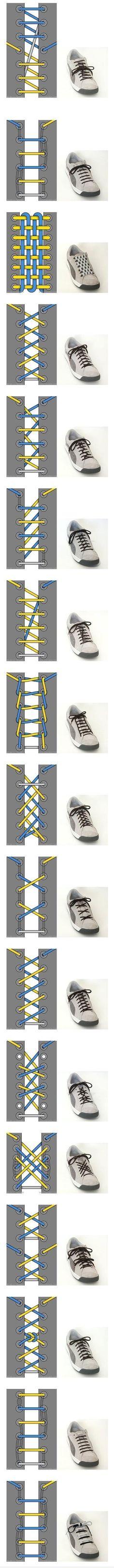 wierd ways to tie your shoe!