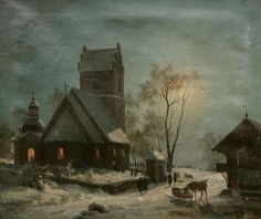 On the Way to Christmas Eve, after 1900, by Wilhelm Graf Moerner