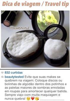 Dica de maquilhagem para viagem Travel tip Protect your makeup while travelling