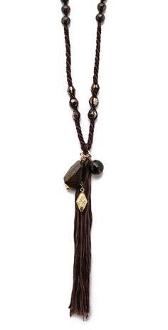 Chan Luu Beaded Tassel Charm Necklace | SHOPBOP
