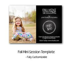Instant Download // Fall Mini Session Template  by LucyJuneDesigns, $7.00