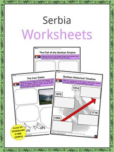 This is a fantastic bundle which includes everything you need to know about the Serbia across 21 in-depth pages. These are ready-to-use Serbia worksheets that are perfect for teaching students about the Serbia which is a landlocked country nestled at the crossroads of Central and Southeastern Europe in the Balkans. It has been inhabited since the Paleolithic Age and has a rich, extensive history. It is home to several ethnic groups and many different religions and to nearly 7 million people. Geography Worksheets, The Crossroads, Facts For Kids, Air Pollution, Sign I, Ethnic, Students, Europe, Teaching