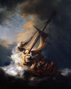 The Storm on the Sea of Galilee, 1633 by Rembrandt