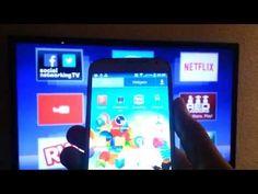 como transmitir a imagem do seu celular para sua tv led sem aplicativo - YouTube