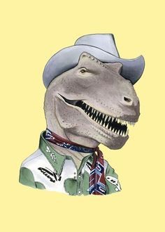 Scary? No. Friendly? Most definitely. This T-Rex would much rather show you his world record collection of embroidered western shirts than eat you for lunch. If you are ever in Arizona, make sure to check out the small western wear museum he runs out of his Airstream trailer.
