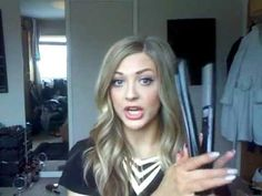 ▶ Curly waves with a straightening iron. - YouTube