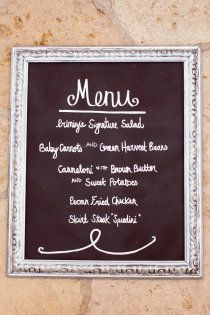 Easy menu sign - i seriously want mexican food..
