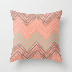 Soft Chevron Throw Pillow by The Velvet Owl Design Studio - $20.00