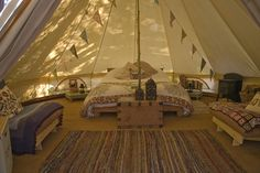 Bell tent Luxury Camping