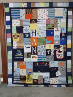 This is such a cool idea! Quilt made from old baby clothes that you can't part with. Send them off to this lady and she'll do the quilts for you!