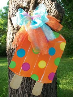 Summer Popsicle Door hanger Summer door by BluePickleDesigns, $40.00