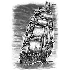 how to draw a realistic pirate ship step by step