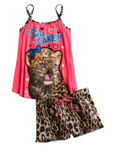 CHEETAH PAJAMA SET | GIRLS PAJAMAS ROBES PJS, BRAS PANTIES | SHOP JUSTICE