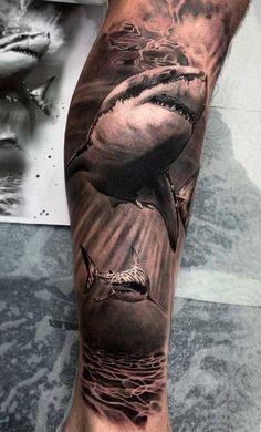 Ocean Sleeve Tattoos, Octopus Tattoos, Leg Sleeve Tattoo, Animal Tattoos, Arm Tattoo, Hai Tattoos, Dope Tattoos, Body Art Tattoos, Tattoos For Guys