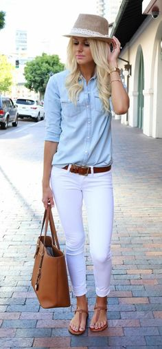 Wear White Pants This Fall