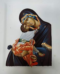 Blessed Mother Mary, Mary And Jesus, Byzantine Icons, Orthodox Icons, Mother And Child, Santa Maria, Madonna, Art For Kids, Catholic
