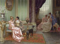 Regency era painting Note: OF the regency, but not painted during it. Evidently, an idealized scene.