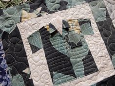 Hawaiian Shirts with pocket and collars quilted by Kathy O. of Stitch by Stitch
