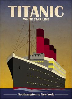 art deco posters and prints | titanic ocean liner art print art deco style art print format gallery ...