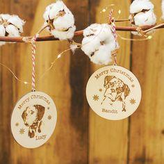 Personalised Dog Christmas Decoration