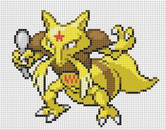 I do not take credit for this art I simply blew up the image and added the grid I do however take credit for recreating t. Pixel Pokemon, Gen 1 Pokemon, Pokemon Pokedex, Art Pokemon, Hama Beads Pokemon, Pokemon Sprites, Pokemon Cross Stitch, Stitch Character, Emoji