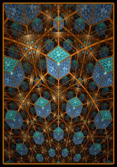 """"""" I feel compelled to look to a 'First Cause',   having an intelligent mind, in some degree analogous to that of man....""""  ―Charles Darwin―    Cuboids 3 - pure fractal flame - by Cory Ench © 2007"""
