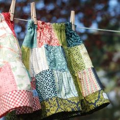 patch work skirts - cute sewing idea (if I could sew)
