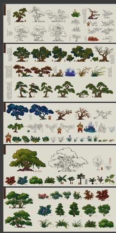 [Micro] Genesis Journey elements - set design, micro-elements, swim ... @ BiAn- piece collection to the building design (Figure 385) _ petal game via cgpin.com