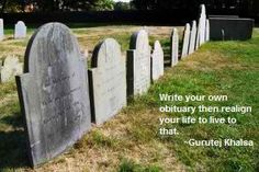 Write your own obituary assignment