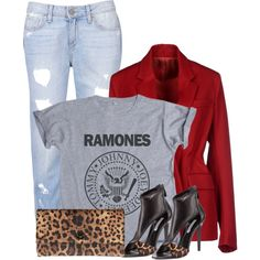 """""""coloured blazer and print tee contest"""" by ginga1203 on Polyvore"""