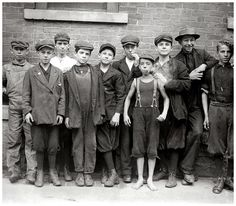 Young mill workers in Massachusetts, 1911. Back when there were no big labor regulations...