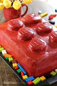 Lego Cake- simple design! No special tools or skill level necessary!