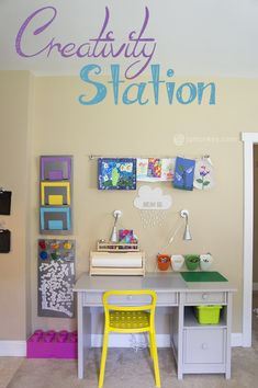 Creativity Station - Art, Homework and LEGO Table — JaMonkey Kids Bedroom Organization, Toy Organization, Organizing Ideas, Organizing Toys, Kids Homework Station, Homework Area, Lego Table, Ikea, Easy
