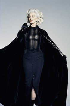 Mugler Fall 1995 Couture Fashion Show - Carmen Dell'Orefice