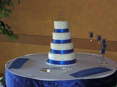 Blue Ribbon Wedding Cake by christiescakery, via Flickr