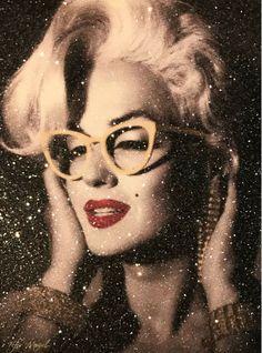 5e4d1745c1 Fabulous Marilyn by Kfir Moyal. Hand  painting  acrylic on  canvas