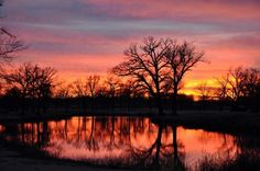 The Redbud Valley Nature Preserve in Catoosa offers breathtaking views of Oklahoma's sunsets and sunrises.