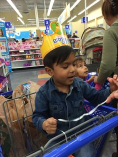 Spending the second half of my son's 4th birthday at Toys R Us