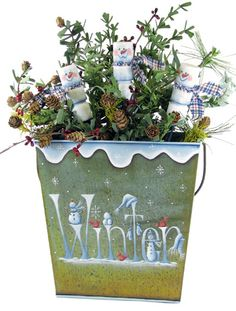 The Decorative Painting Store: Winter Bucket DOWNLOAD, e-Patterns