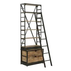 Vintage Industrial Ladder Bookcase