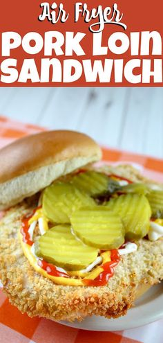 As an Iowan – a breaded pork tenderloin sandwich is near and dear to my heart but I just can't find a good one here in Ohio. So – I took to the kitchen and made my own! The best part is you can make big sandwiches with them or slice them up and make … Breaded Pork Tenderloin, Pork Tenderloin Sandwich, Roast Beef Sandwich, Pork Tenderloin Recipes, Pork Tenderloins, Beef Tenderloin, Pork Roast, Slow Cooked Pulled Pork, Pulled Pork Recipes
