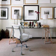 wohnideen arbeitszimmer home office büro - weiß home-office gold ... - Wohnideen Wohnzimmer Arbeitszimmer