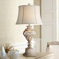 Luke Mercury Glass Nightlight Table Lamp