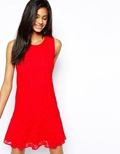 Drop lace tank dress