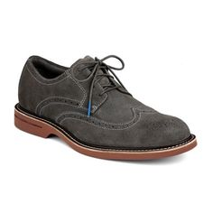 sperry topsider gold suede oxford - grey