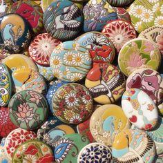 Handmade ceramic pendants - Golem Design Studio
