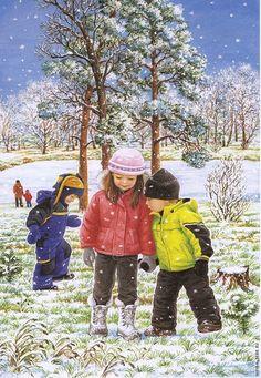 View album on Yandex. Illustrations, Illustration Art, Four Seasons Art, Winter Christmas Scenes, Snowflakes Art, Creation Photo, Snow Pictures, Hello Winter, Winter Images